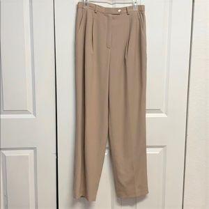 Blue Ice Dress Pants Size 8 Beige Wool Lined